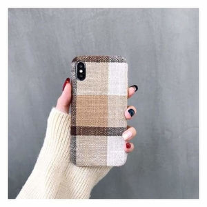 Ultra Thin Texture Case For iPhone - Sand / for iphone XR - Half-wrapped Case