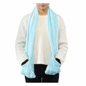USB Heated Scarf - Blue - Electric Heaters
