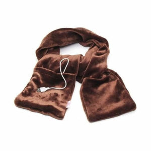 USB Heated Scarf - Brown - Electric Heaters