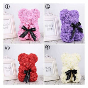 Valentines Rose Bear - Artificial & Dried Flowers - valentines-rose-bear