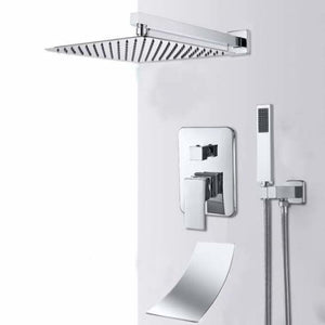 Wall Mount Bathroom Rain Waterfall Shower - Shower Faucets - wall-mount-bathroom-rain-waterfall-shower