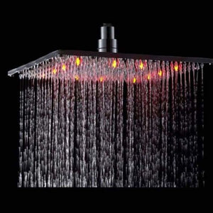 Wall Mounted LED Rainfall Shower - Shower Faucets - wall-mounted-led-rainfall-shower