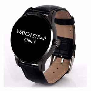 Watch Straps For K88H Unisex Smartwatch - black leather strap - Smart Watches