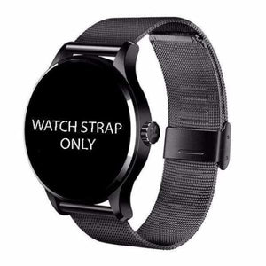 Watch Straps For K88H Unisex Smartwatch - black steel strap - Smart Watches