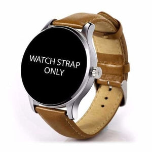 Watch Straps For K88H Unisex Smartwatch - brown leather strap - Smart Watches