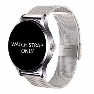 Watch Straps For K88H Unisex Smartwatch - silver steel strap - Smart Watches