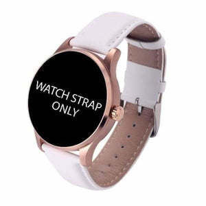 Watch Straps For K88H Unisex Smartwatch - white leather strap - Smart Watches