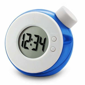 Water Powered Multi-Function Clock - Blue - Alarm Clocks