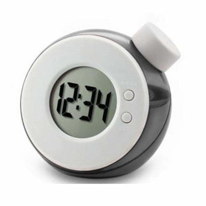 Water Powered Multi-Function Clock - Gray - Alarm Clocks