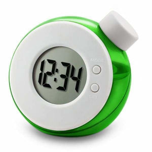 Water Powered Multi-Function Clock - Green - Alarm Clocks