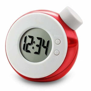 Water Powered Multi-Function Clock - Red - Alarm Clocks