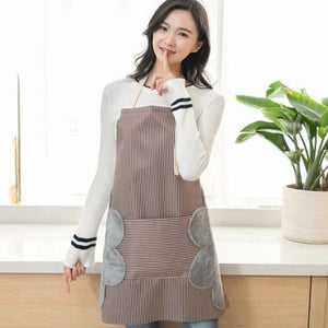 Waterproof Kitchen Apron With Pocket - Home - Brown - waterproof-kitchen-apron-with-pocket