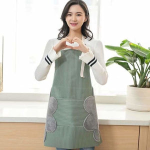 Waterproof Kitchen Apron With Pocket - Home - Green - waterproof-kitchen-apron-with-pocket