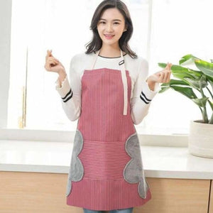 Waterproof Kitchen Apron With Pocket - Home - Red - waterproof-kitchen-apron-with-pocket