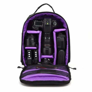 Waterproof Multi-functional Camera Bag - Purple - Camera/Video Bags