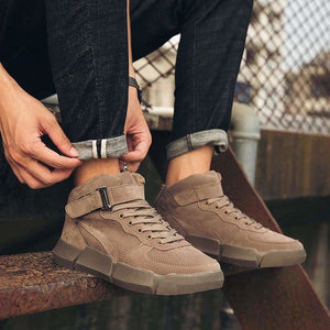 Winter Leather boots - Mens Casual Shoes - winter-leather-boots
