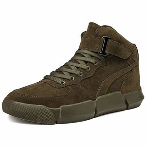 Winter Leather boots - Mens Casual Shoes - green / 7 - winter-leather-boots