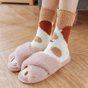 Winter Warm Cat Paw Socks - Home - cat-paw-socks