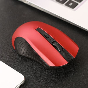 Wireless 2.4Ghz Mini Mouse - Red