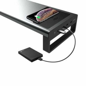 Wireless charging aluminum monitor stand riser - monitor holder - wireless-charging-aluminum-monitor-stand-riser