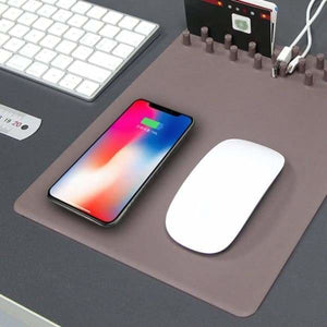 Wireless Charging Mouse Pad Organiser - Mobile Phone Chargers