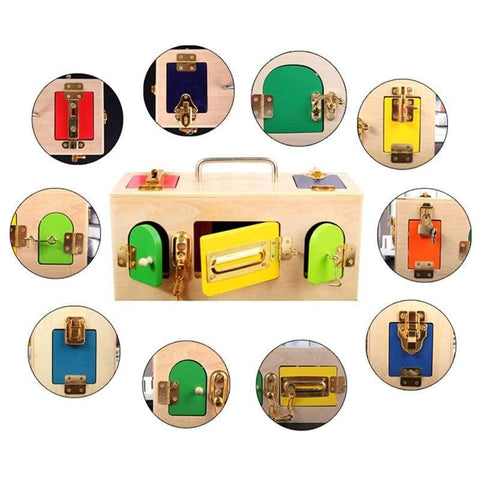Kids Montessori Lock Box Toy - Home