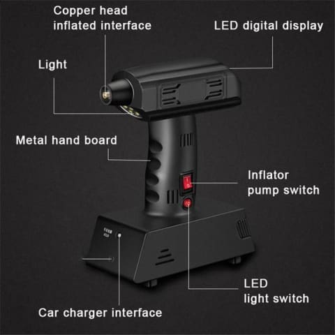 Portable Pump With LED Light