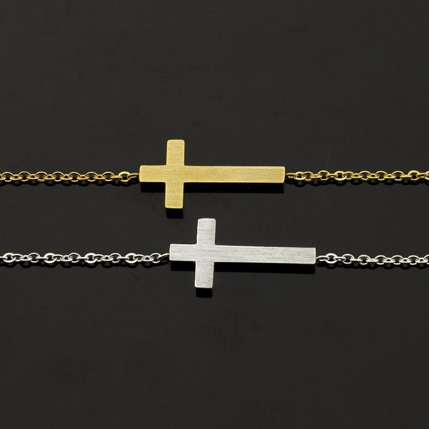Gold & Silver Cross Bracelet
