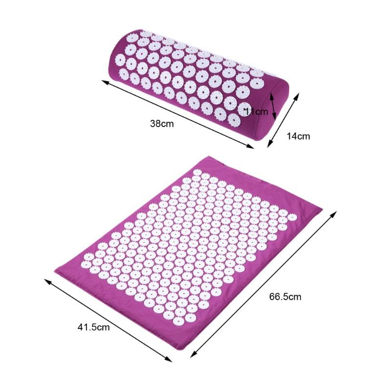 Acupressure Mat with Pillow + Free Yoga Bag
