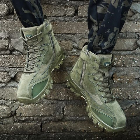 Ankle Rubber Military Men Boots