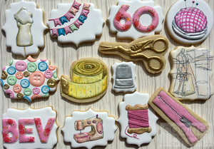 Sewing Cookies For Bev's 60th Birthday