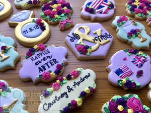 Wedding Cookies for Courtney and Andrew