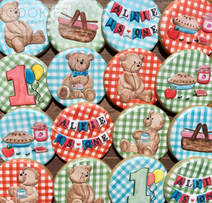 Teddy Bear Picnic Cookies for Alfie
