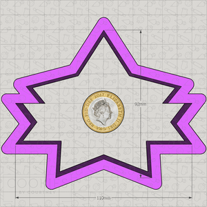 Large Star with Banner