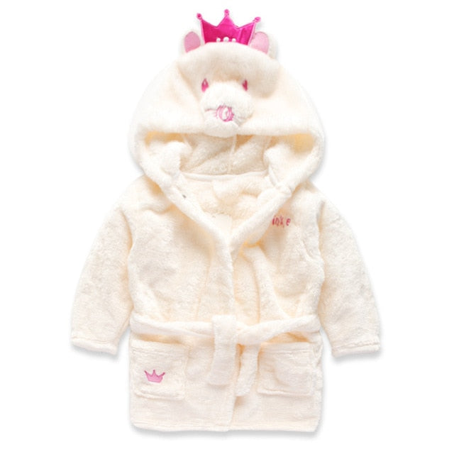 """Cozy Whoazies"" - Super Soft & Fun Kids Robe"