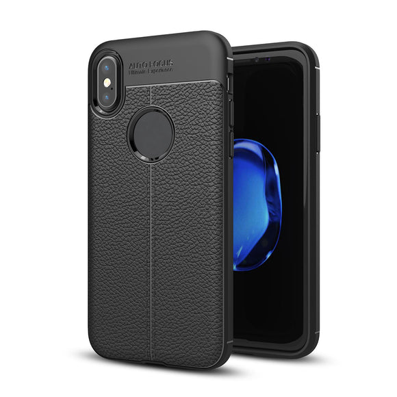 Bakeey ™ Anti Fingerabdruck Soft TPU Litchi Leder Tasche für iPhone X/7/8 / 7Plus / 8Plus / 6Plus / 6sPlus