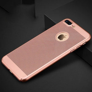 Mesh Dissipating Heat Anti Fingerprint PC Case For iPhone 7 Plus/8 Plus