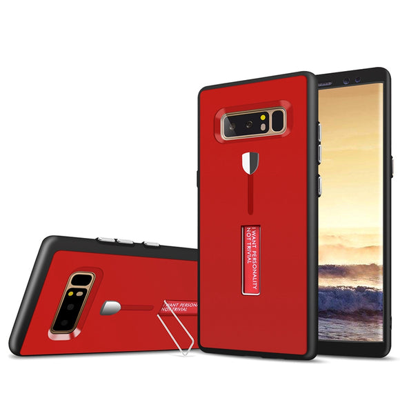 Bakeey Full Body Front- & Backcover Strap Grip Kickständer Tasche für Samsung Galaxy Note 8