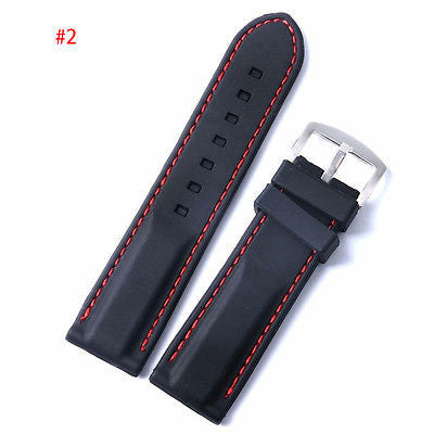The Length of Two Car Line size Silicone Strap   Multicolor