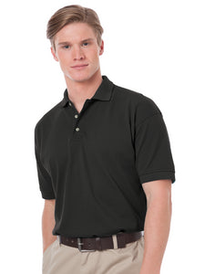 Blue Generation Mens Black Cotton Pique Polo Shirt