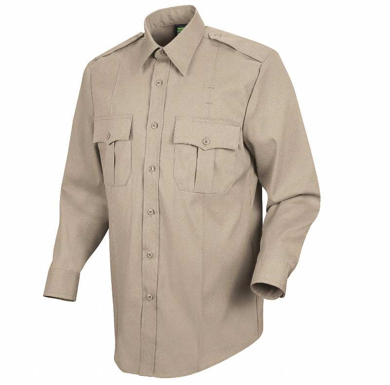 Horace Small Sentry Mens Silver Tan Long Sleeve Shirt With Zipper