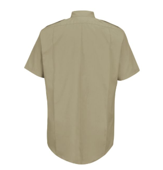 Horace Small New Dimension Poplin Silver Tan Short Sleeve Shirt