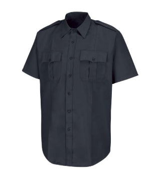 Horace Small New Dimension Dark Navy Poplin Short Sleeve Shirt