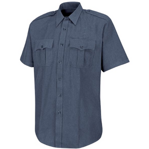 Horace Small Mens Dark Navy Short Sleeve With Zipper Shirt