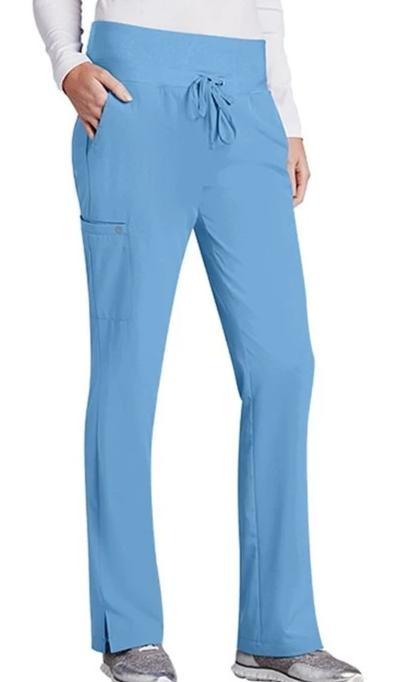 NrG by Barco Women's Junior Fit 4 Pocket Tie Front Straight Leg Scrub Pant 3207