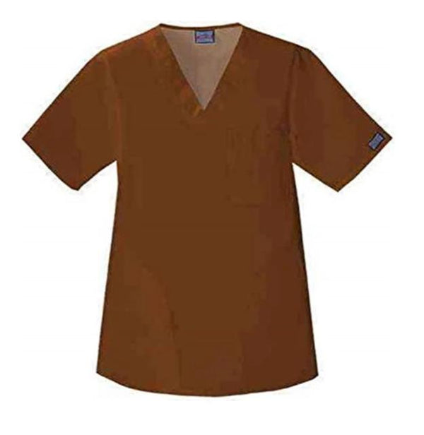 Cherokee WorkWear Unisex V-Neck Solid Scrub Top-4780