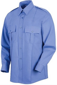 Liberty Uniforms Mens Light Blue Long Sleeve Police/Guard Shirts