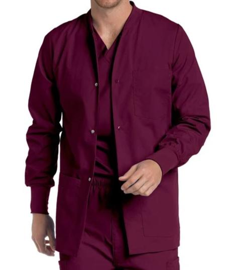 Landau Men's 4-Pocket Classic Fit Warm-Up Medical Scrub Jacket 7551