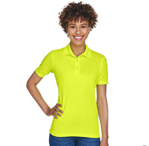 Ultraclub Womens Yellow Mustard Short Sleeve Cool & Dry Mesh Pique Polo Shirt
