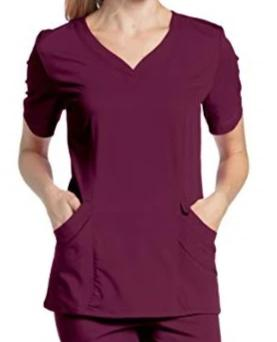 Urbane by Landau Women's Ultimate Soft Stretch Medical Sweetheart Neck Scrub Top